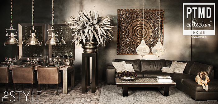 Ptmd meubelen stoer sober en sfeervol for Interieur decoratie artikelen