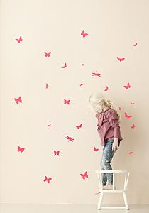 Ferm Living ministicker butterflies mini neon
