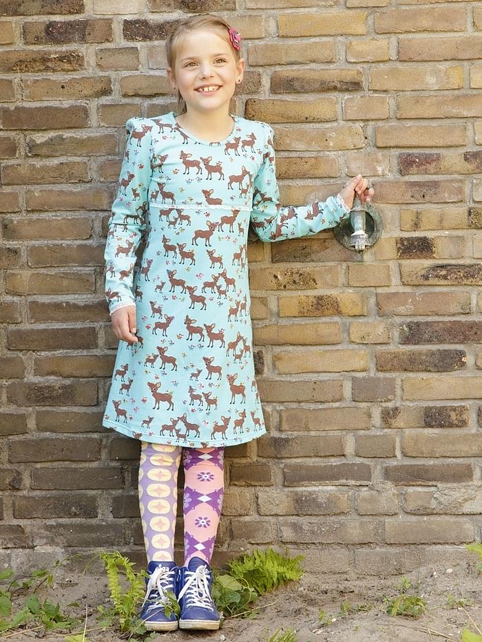 turquoise-ninie-jurkje-met-hertjes-gecombineerd-met-hippe-ewers-maillot