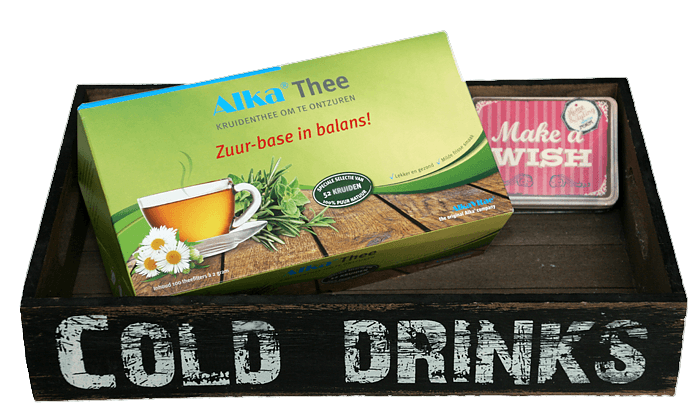 alka thee, ontzuren met thee