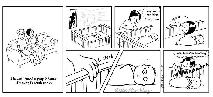 moederschap zwaar, kind huilt