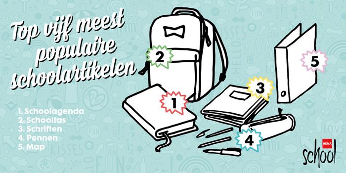 schoolagenda, artikelen top 5