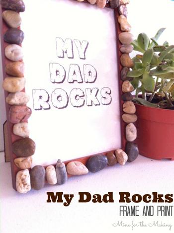 fotolijst voor vaderdag knutselen