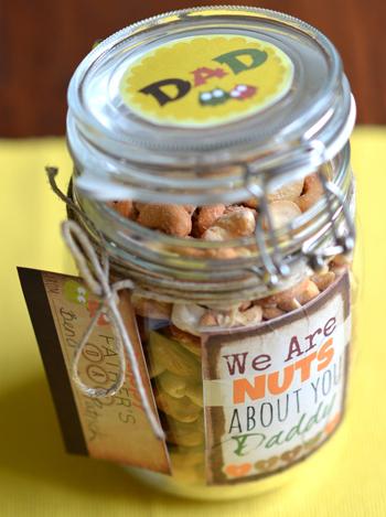vaderdag knutselen notenpot