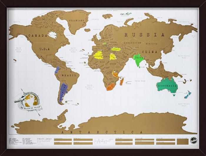 thuisblijven wereldkaart om te plannen