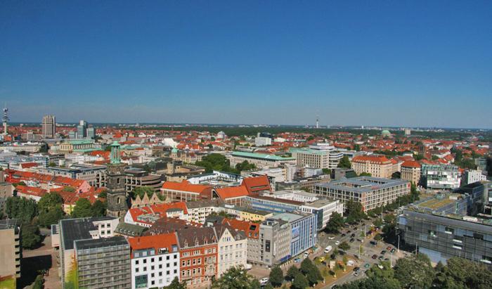 hannover citytrip met kinderen uitzicht Rathaus