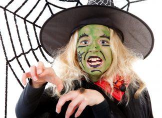 halloween schmink, groene heks