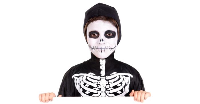 halloween schmink skelet