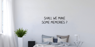 slaapkamer tekst muurstickers