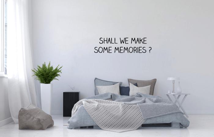 slaapkamer tekst muurstickers die je zelf kan ontwerpen, hoe handig?, Meubels Ideeën