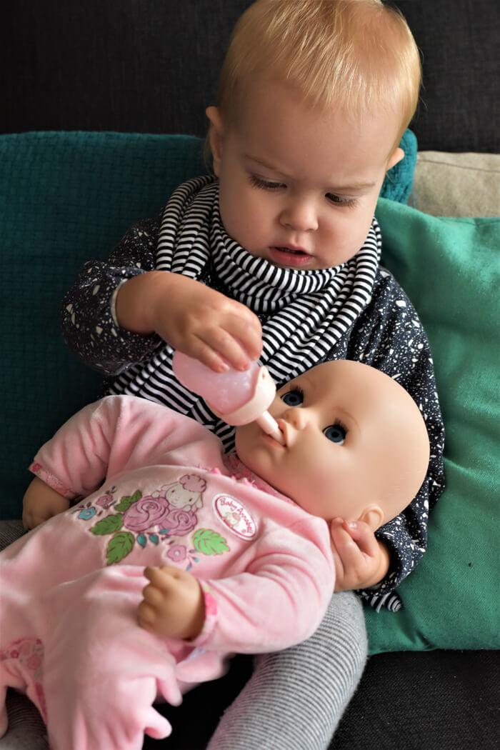 baby annabell flesje
