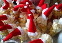 kersttraktaties sneeuwpop met popcorn
