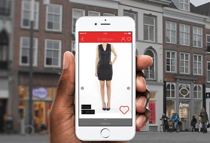 leuke kledingwinkels vinden, app findur