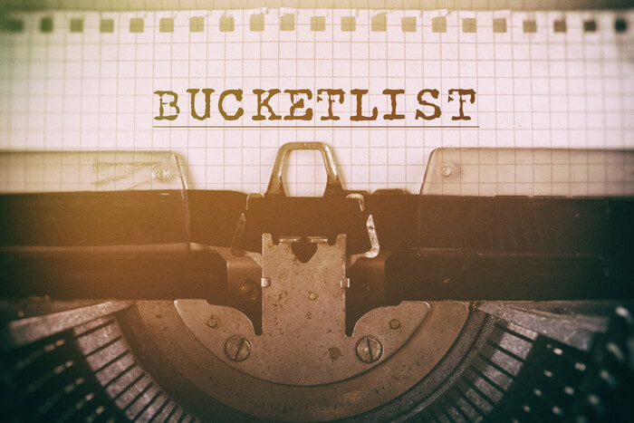 bucket list bullshit