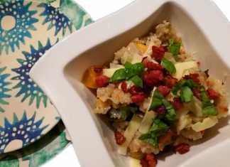 risotto met pompoen en spek