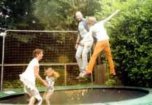 spelletjes voor buiten, trampoline