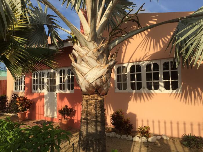 wonen op Aruba, gekleurde huisjes