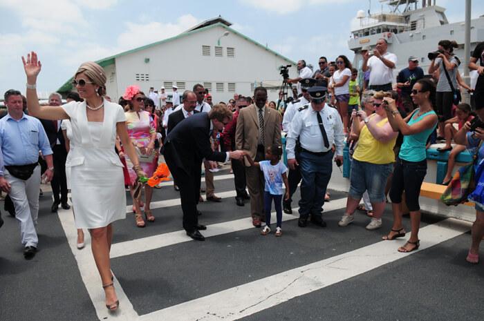 wonen op aruba Willem Alexander op bezoek