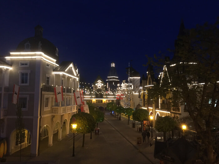 europapark duitsland, by night