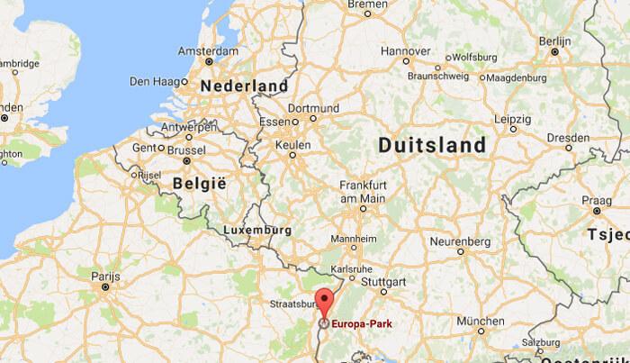 europapark duitsland op de kaart
