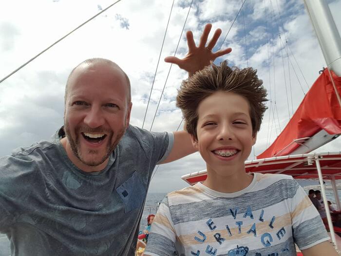 tenerife met kinderen, op de catamaran