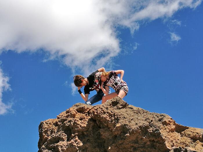 tenerife met kinderen, de teide beklimmen