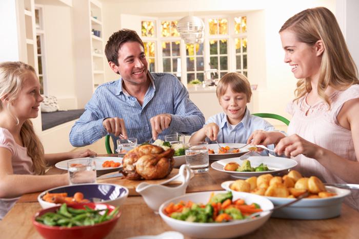 eten met het gezin