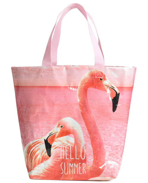 roze flamingo tas
