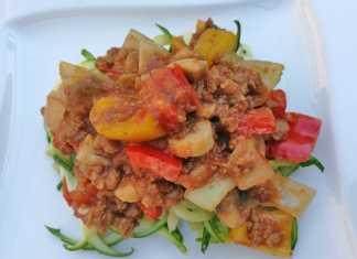 vegetarische courgetti
