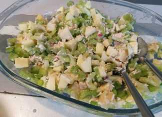 bleekselderij salade met appel