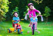 leren fietsen driewieler