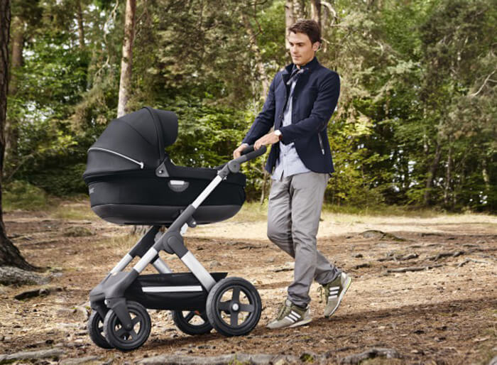 stokke trails kinderwagen off road