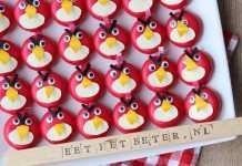 angry birds traktatie babybel