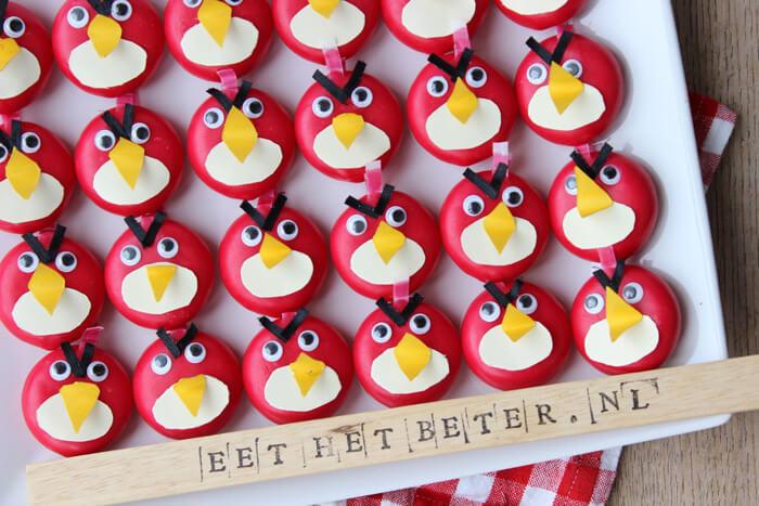 Iets Nieuws Angry Birds traktatie; leuke Angry Birds maken van een mini Babybel #JM02