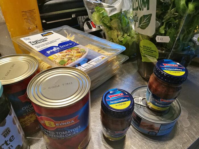pasta puttanesca ingredienten