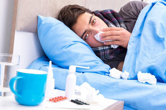 mannen met griep