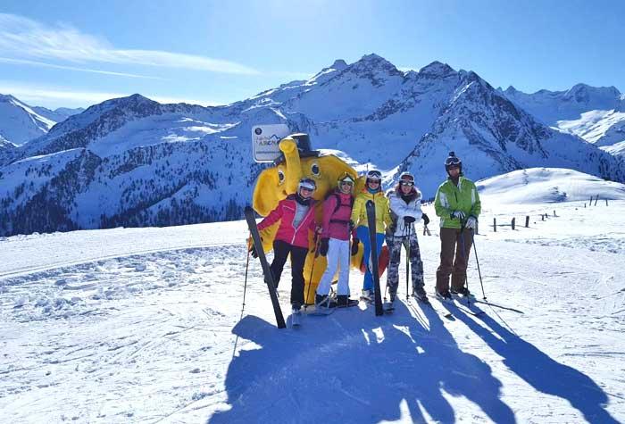 skien met vriendinnen