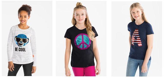 omkeerbare pailletten shirts kinderkleding
