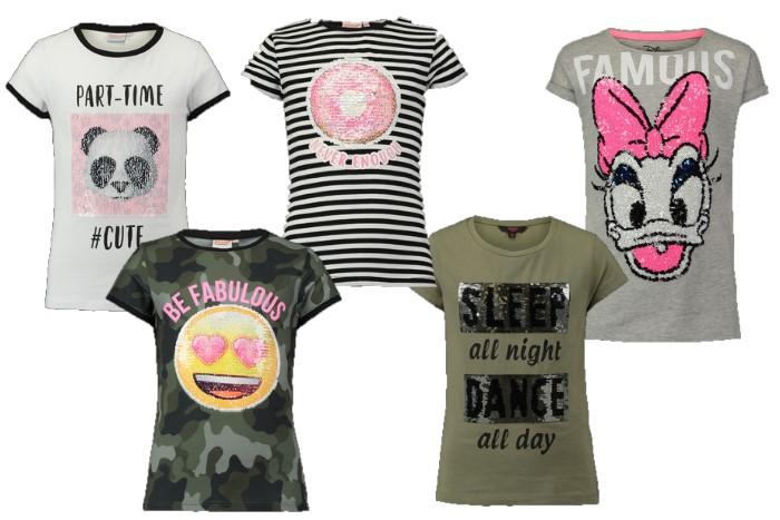 omkeerbare pailletten meisjes shirts