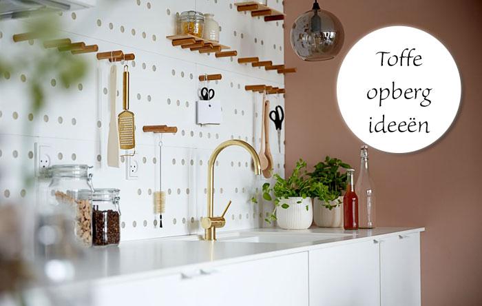 Opberg ideeën woonkamer; 10x inspiratie voor mooi opruimen