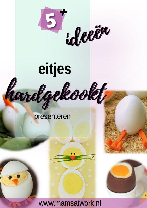 gekookte eieren presenteren