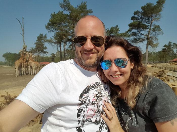 selfie voor de savanne