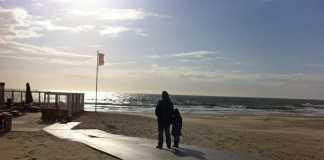 texelse strand uitwaaien