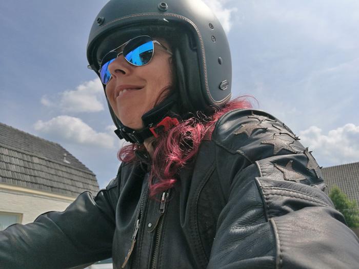 motorhelm vrouw