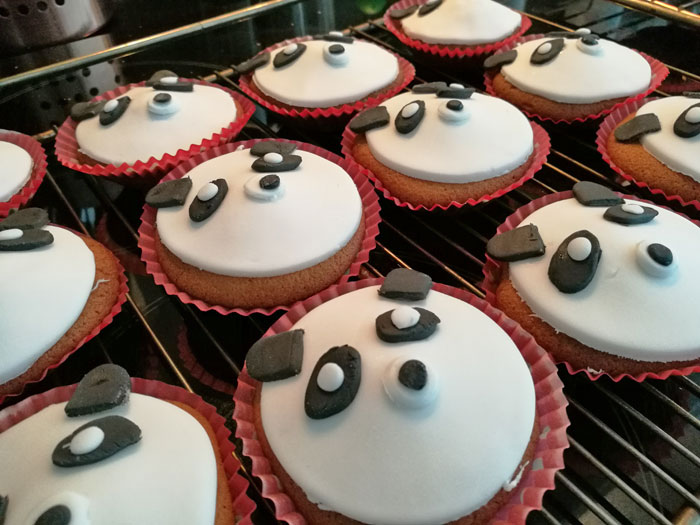 panda cupcakes bakken