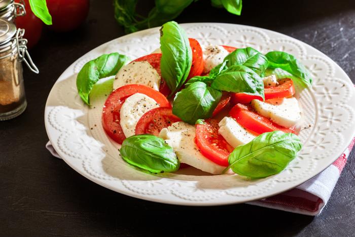 caprese salade koolhydraatarm