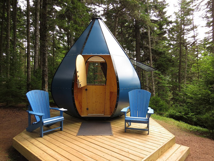 glampin in Canada, fundy national park