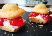 toetje zonder suiker, aardbeiencake