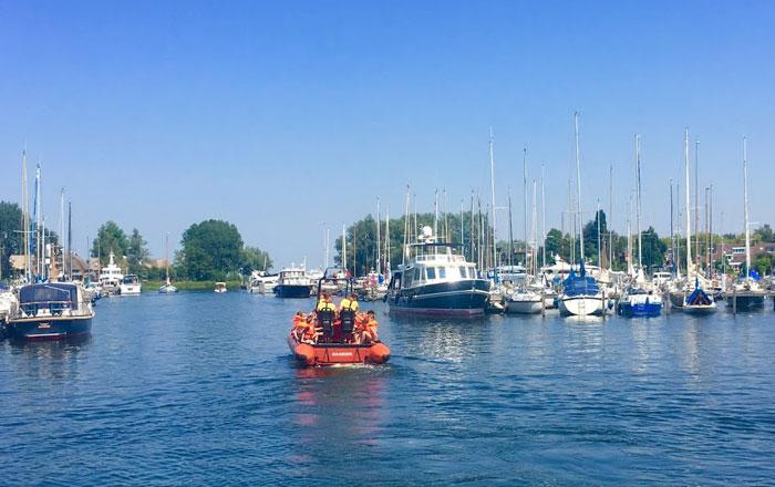 welkom op het water met de reddingsbrigade