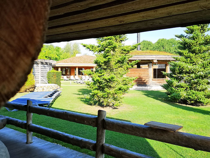 buitengedeelte sauna Fontana Resort